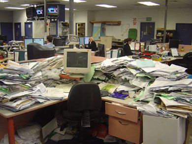 messy desk